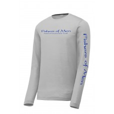*New FOM LS Performance Tee Silver/Royal Blue