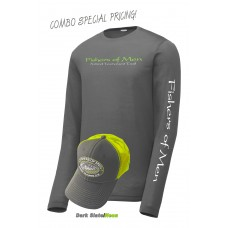 FOM LS Performance Tee Grey/Neon Hat Combo
